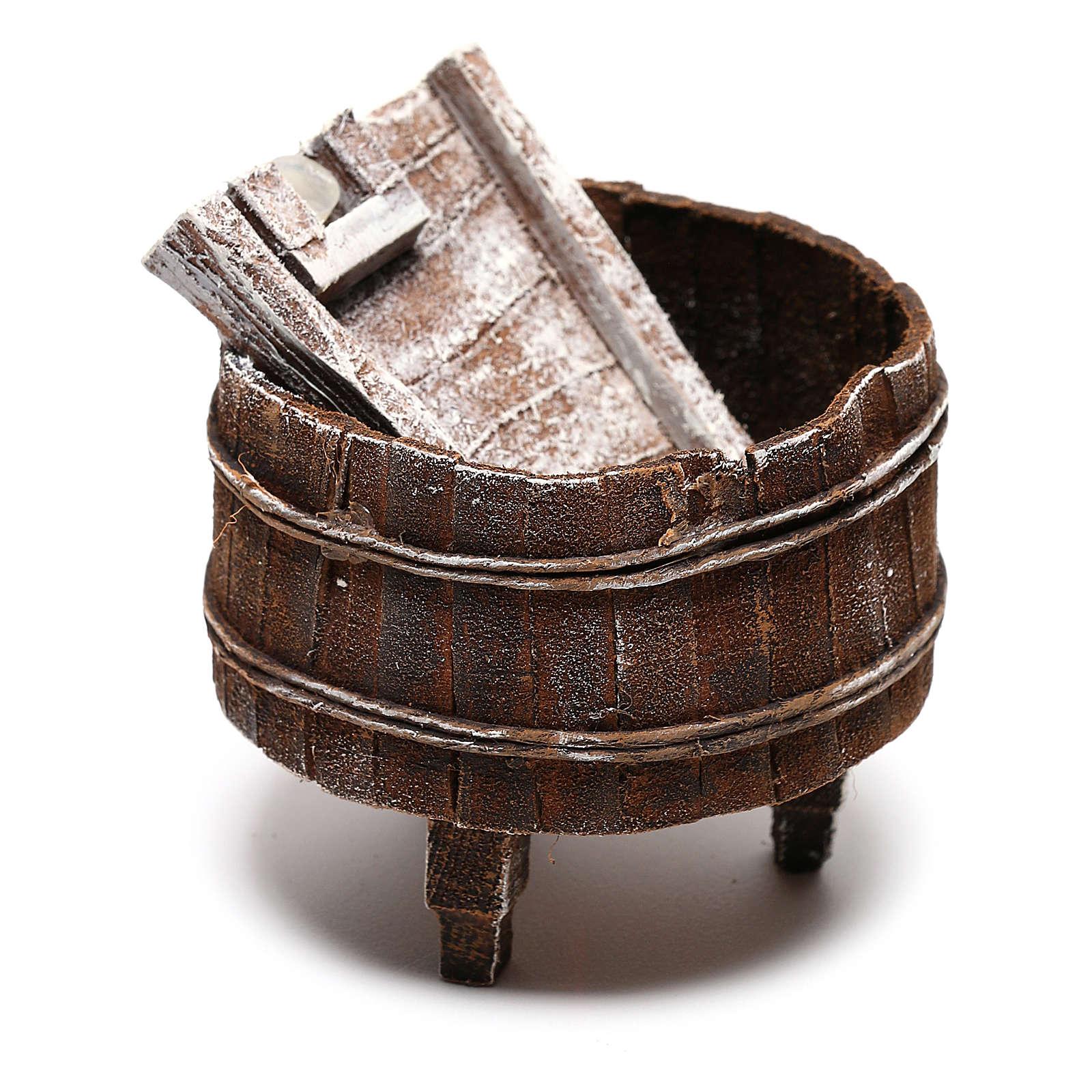 Lavoir bois bricolage crèche 12 cm 4