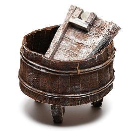 Lavatoio legno presepe 12 cm fai da te s2