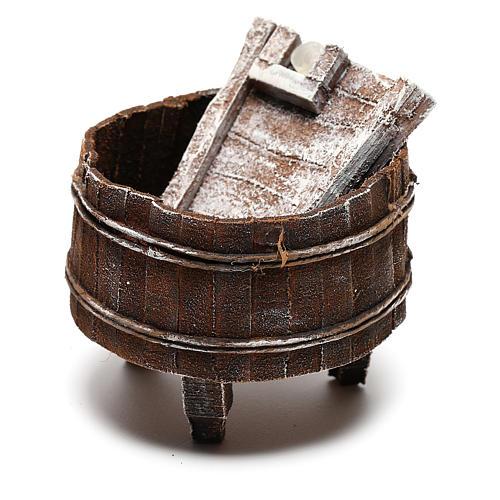 Lavatoio legno presepe 12 cm fai da te 2