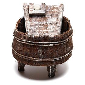 Acessórios de Casa para Presépio: Chafariz de lavagem madeira para bricolagem presépio com figuras de 12 cm de altura média