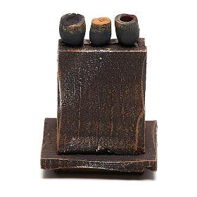 Mobiletto lustrascarpe presepe 10 cm fai da te s4