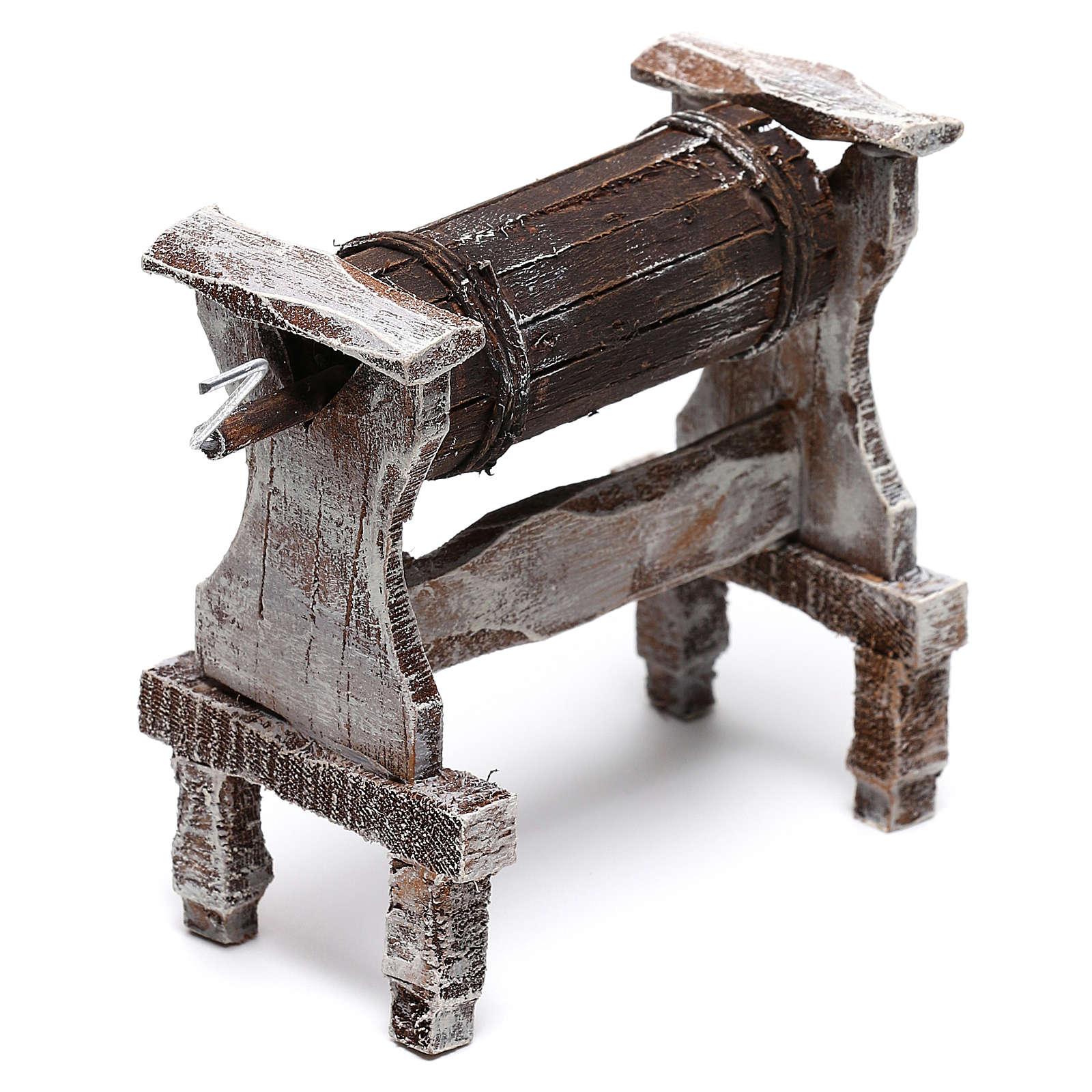Wooden churn for Nativity scene of 12 cm 4