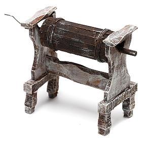 Wooden churn for Nativity scene of 12 cm s3