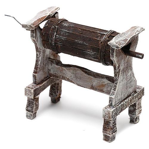 Wooden churn for Nativity scene of 12 cm 3
