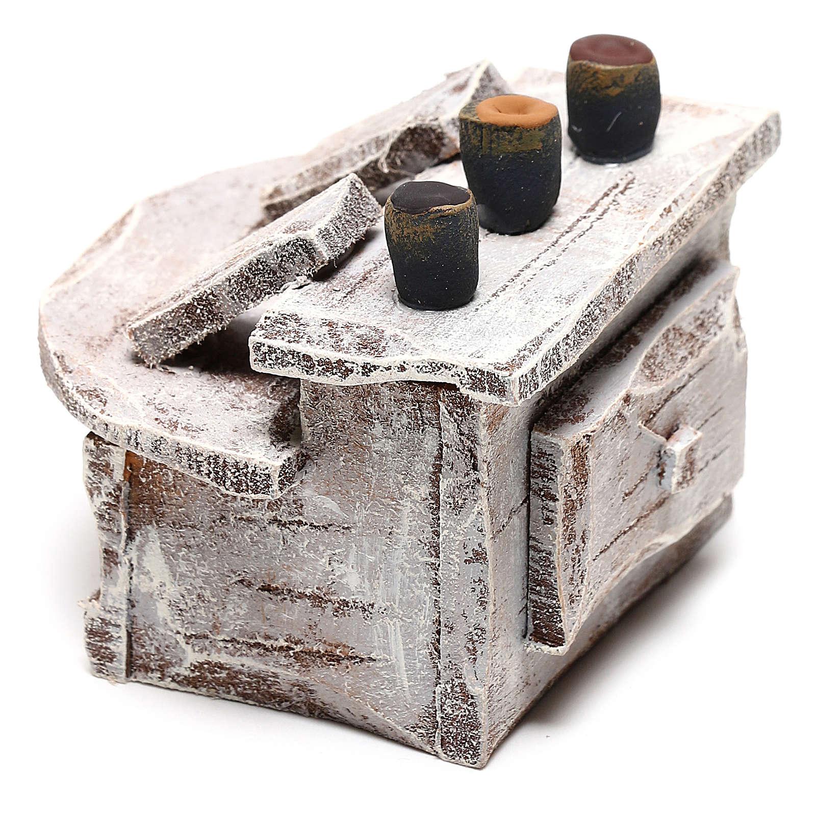 Mobiletto poggiapiedi per lustrascarpe presepi 12 cm 4