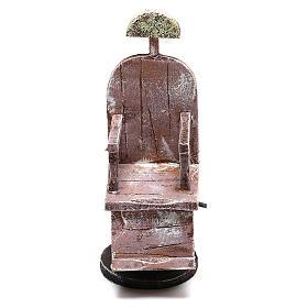 Silla de madera barbero belén 12 cm hecho con bricolaje s1