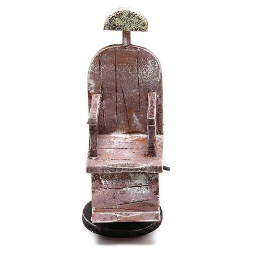 Silla de madera barbero belén 12 cm hecho con bricolaje 1