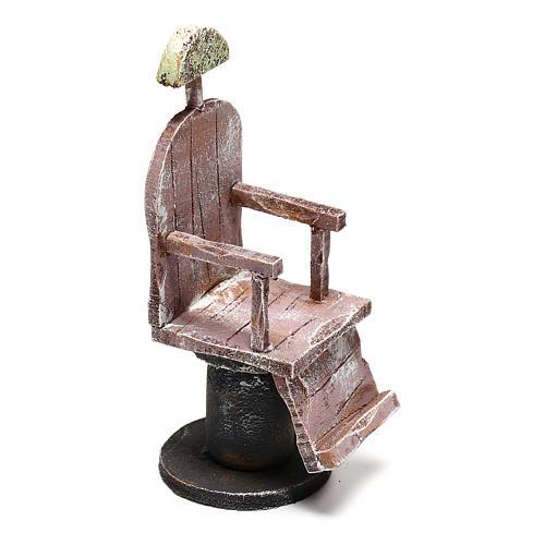 Silla de madera barbero belén 12 cm hecho con bricolaje 3