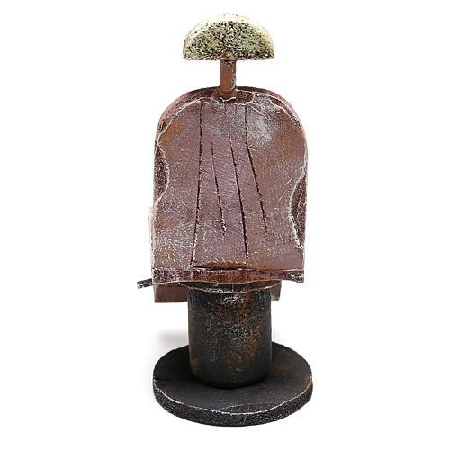 Silla de madera barbero belén 12 cm hecho con bricolaje 4