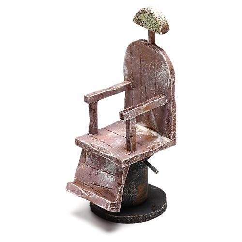 Sedia in legno barbiere presepe 12 cm fai da te 2