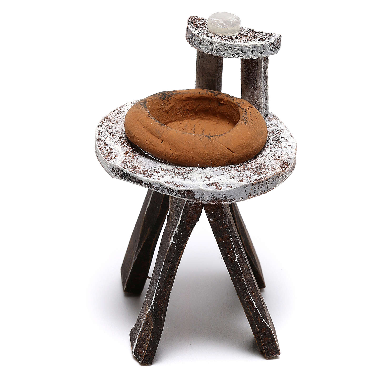 Lavandino legno barbiere presepe 10 cm fai da te 4