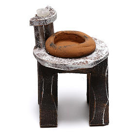 Lavandino legno barbiere presepe 10 cm fai da te s1
