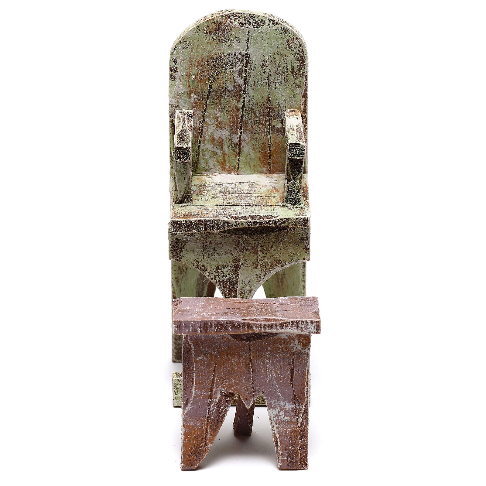 Chaise et repose-pied barbier crèche 12 cm 4