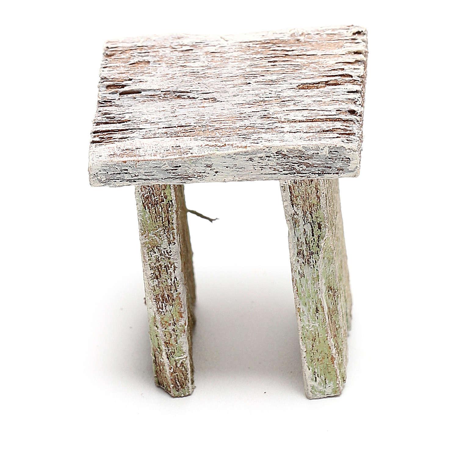Wooden stool for Nativity scene of 12 cm 4