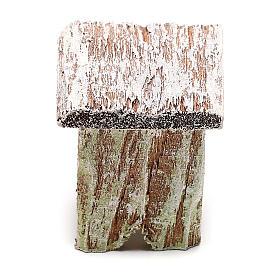 Taburete madera para belén de 12 cm hecho con bricolaje s1