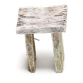 Taburete madera para belén de 12 cm hecho con bricolaje s3