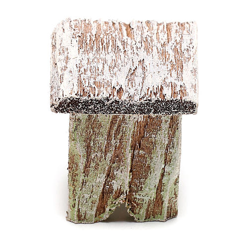Taburete madera para belén de 12 cm hecho con bricolaje 1