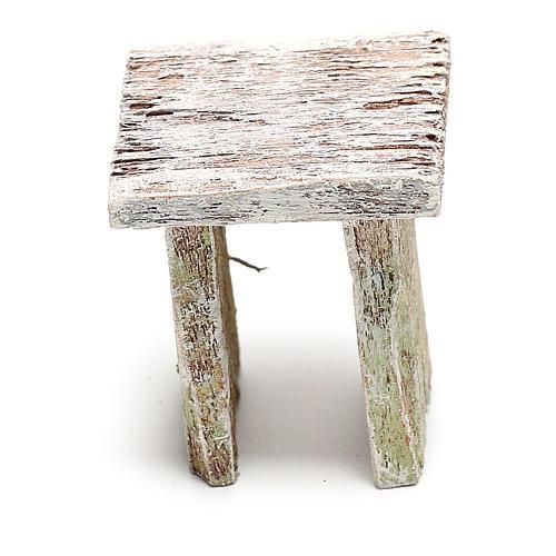 Taburete madera para belén de 12 cm hecho con bricolaje 3