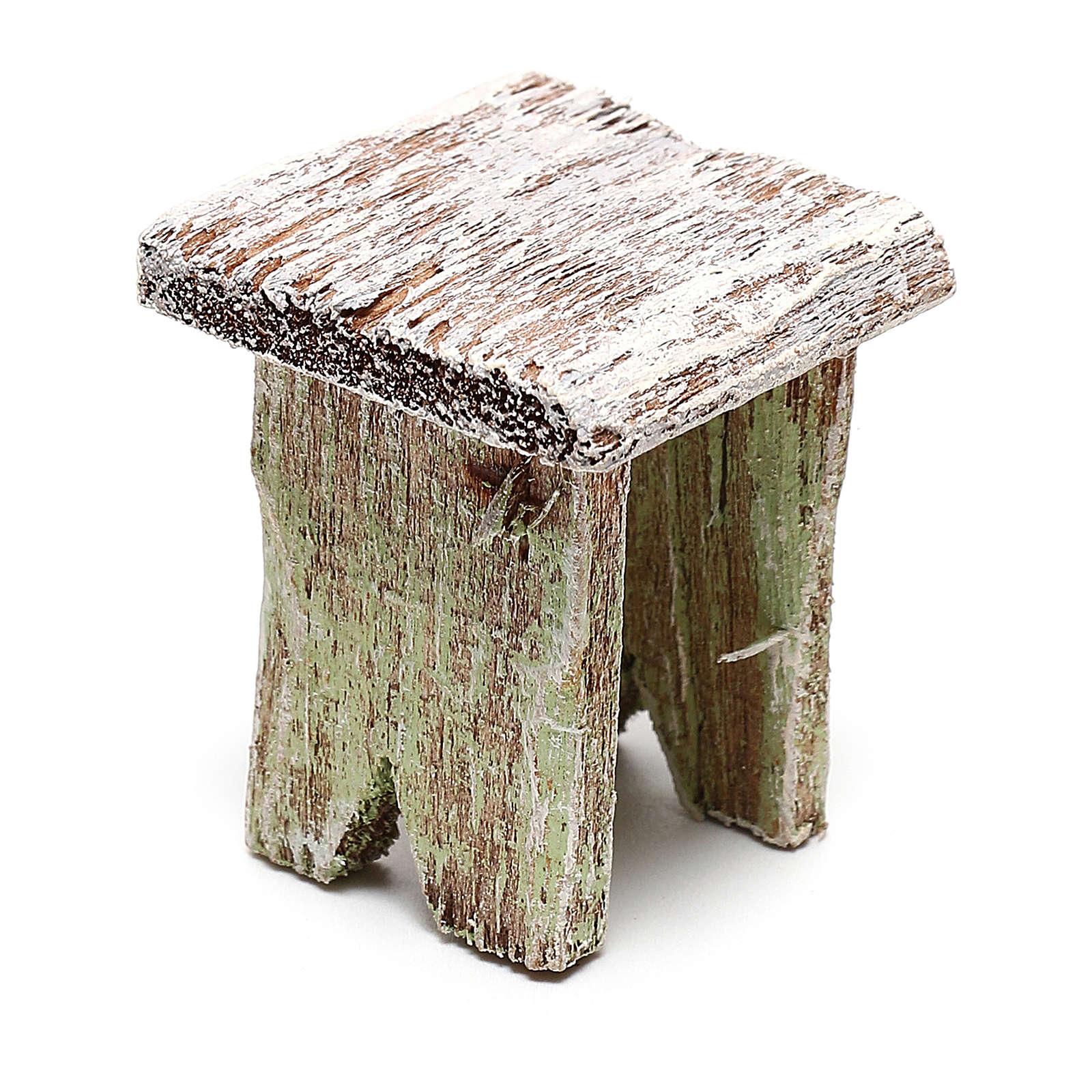 Tabouret bois pour bricolage crèche 12 cm 4