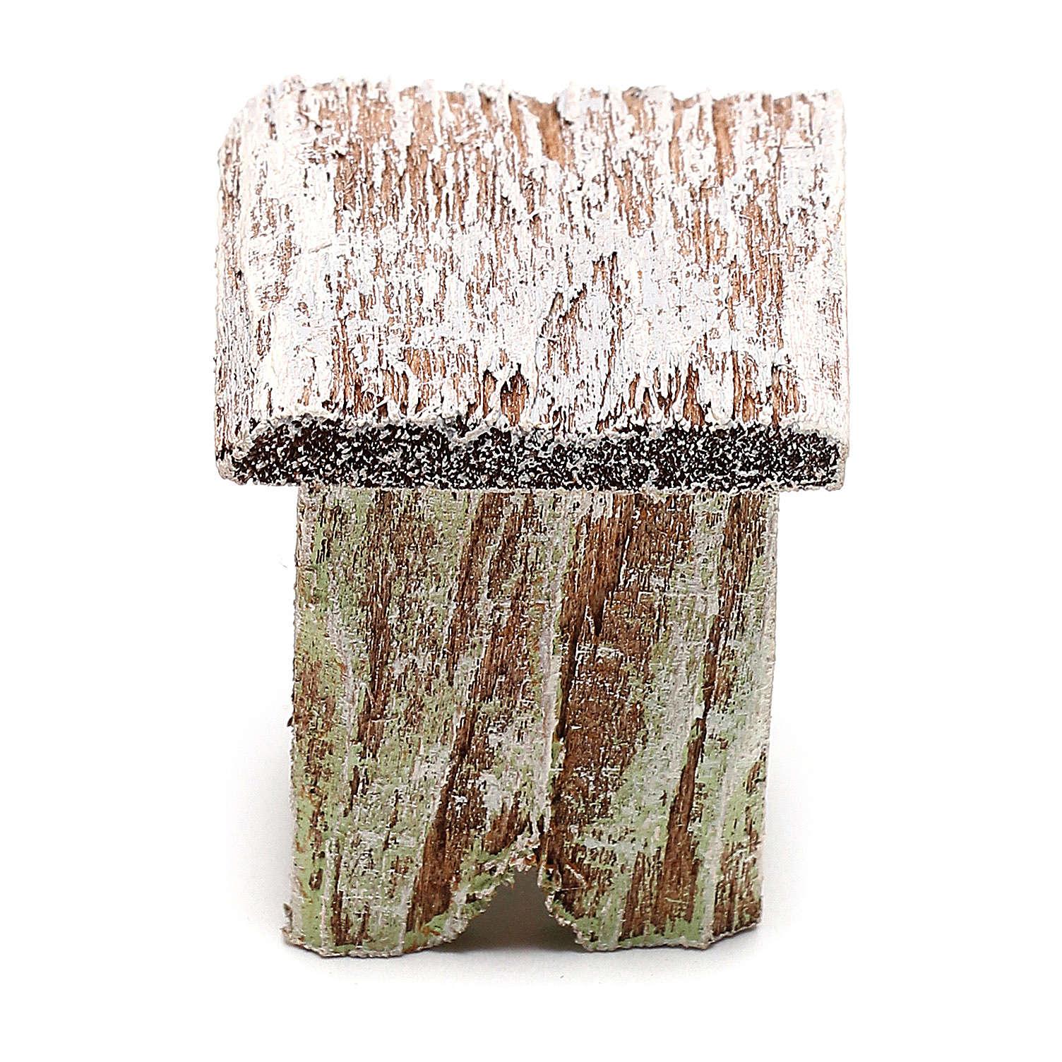 Sgabello legno per presepe di 12 cm fai da te 4