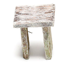 Sgabello legno per presepe di 12 cm fai da te s3