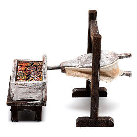 Forja herrero madera belén 10 cm s1