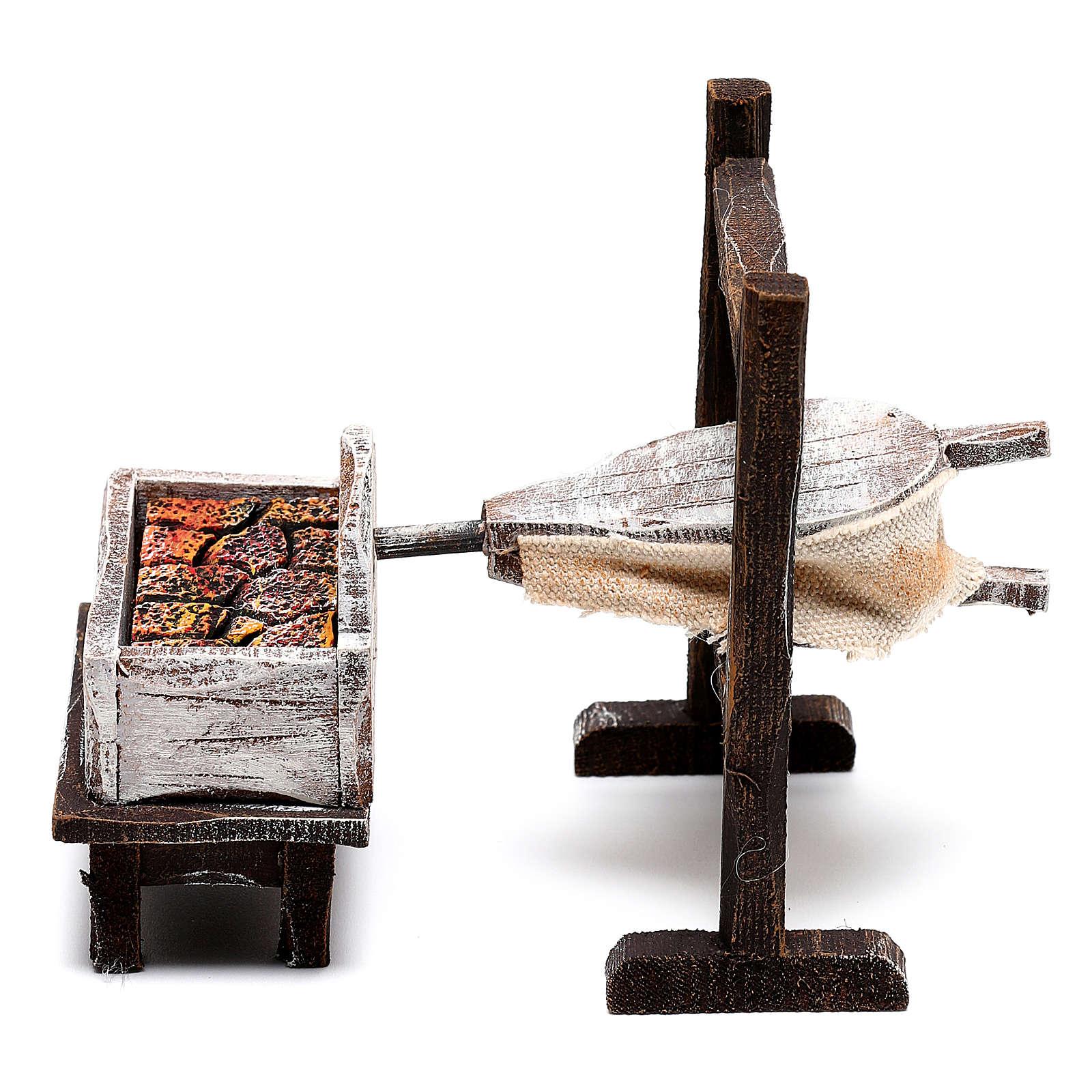Forge forgeron bois crèche 10 cm 4