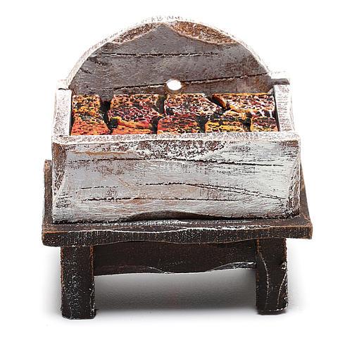 Forgia fabbro legno presepe 10 cm 4