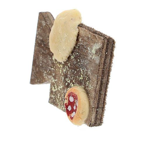 Cutting board with pizza and bread Nativity Scene 12 cm 2