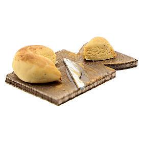 Cheese chopping board and knife Nativity scene 24 cm s2