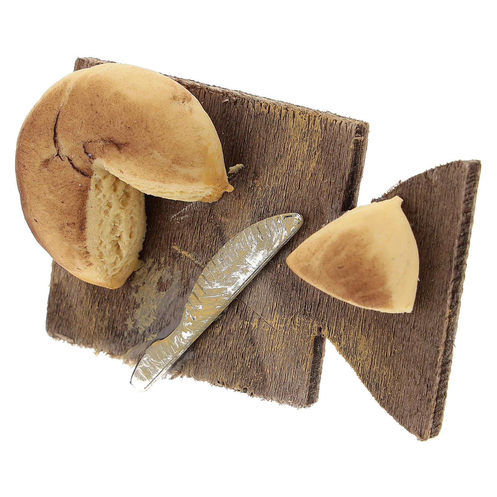 Tabla de cortar queso y cuchillo belén napolitano 24 cm 4