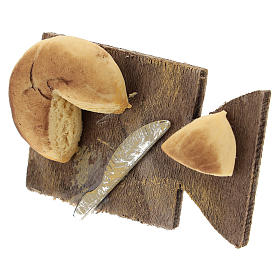Tabla de cortar queso y cuchillo belén napolitano 24 cm s2