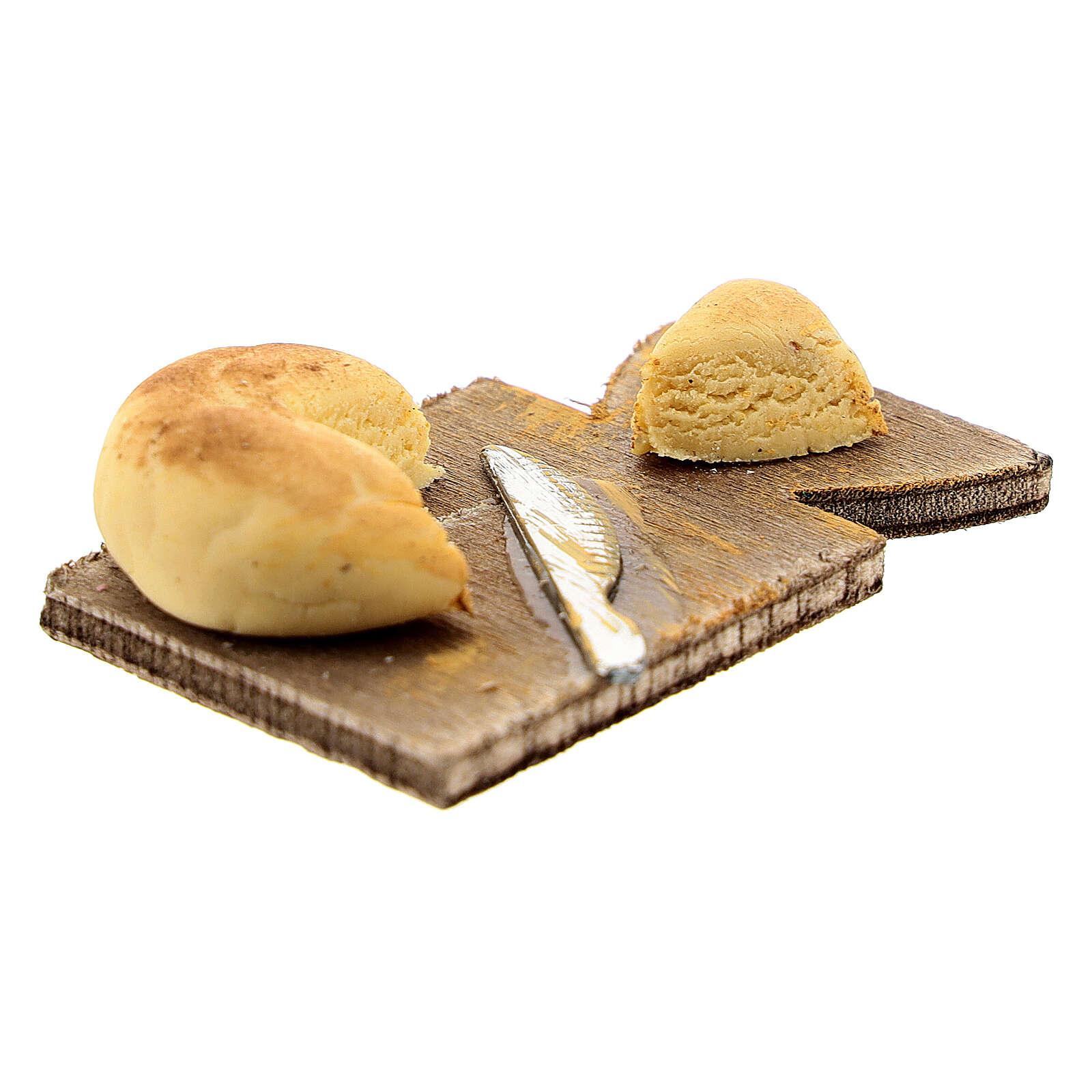 Tagliere formaggio e coltello presepe napoletano 24 cm 4