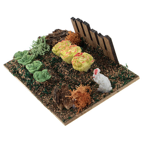 Garden with salad and rabbit for Nativity scene 2