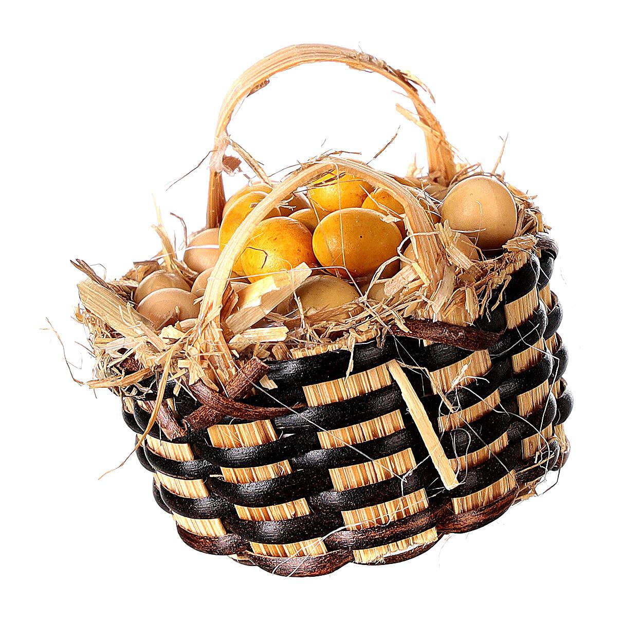 Cesto con uova per presepe 3 cm 4