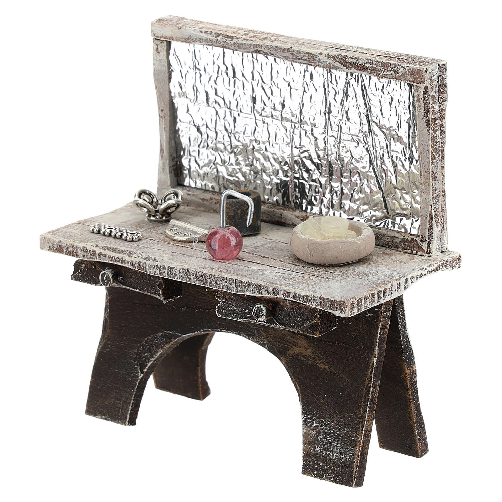 Barber desk for 12 cm Nativity scene 4