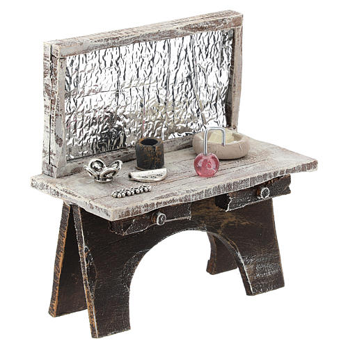 Barber desk for 12 cm Nativity scene 3