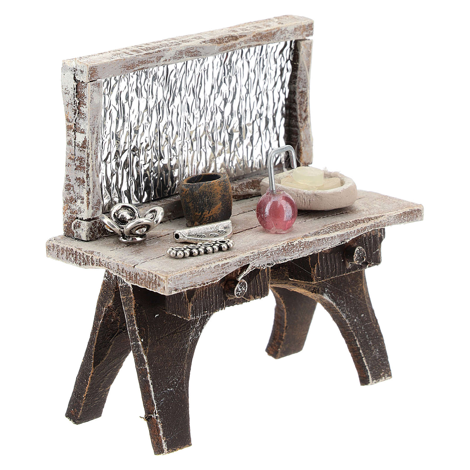 Barber desk for 10 cm Nativity scene 4