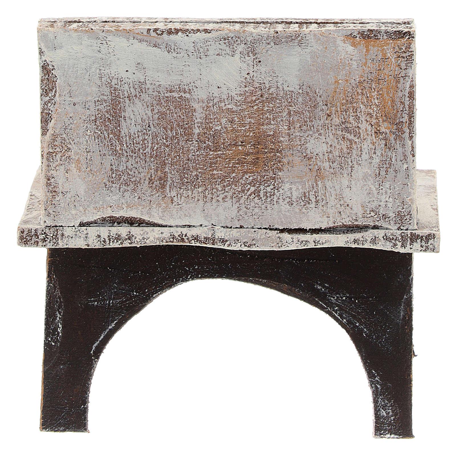 Table avec outils barbier crèche 10 cm 4