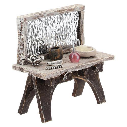 Table avec outils barbier crèche 10 cm 3