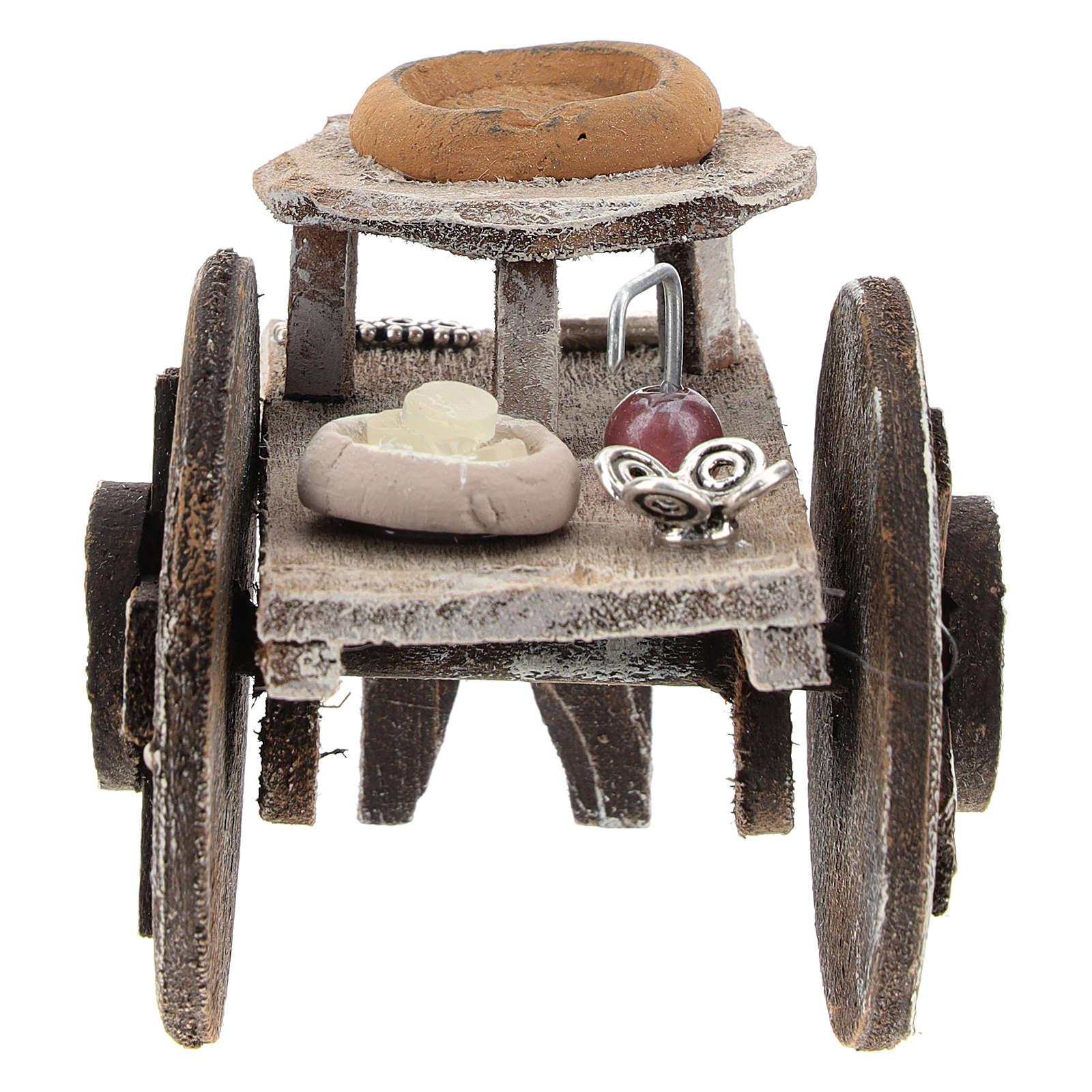 Barber cart for 10 cm Nativity scene 4