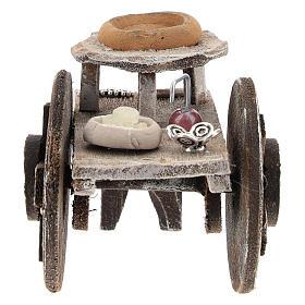 Barber cart for 10 cm Nativity scene s1