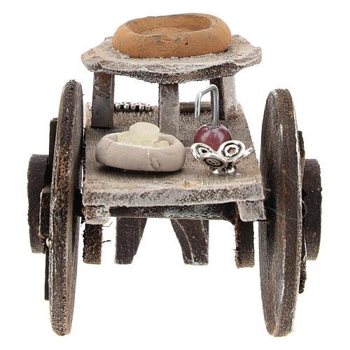 Barber cart for 10 cm Nativity scene 1