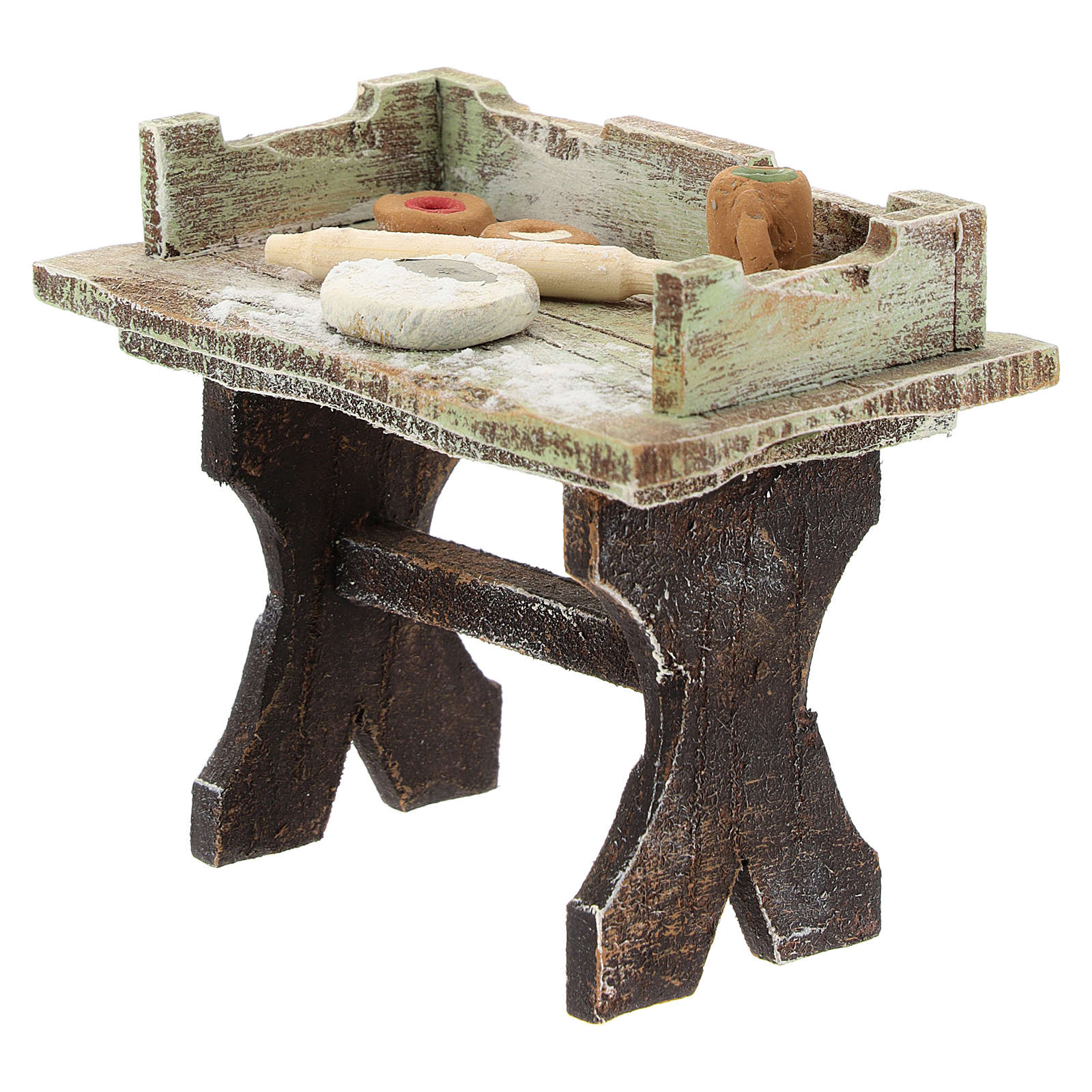 Pizza-maker table for 12 cm Nativity scene 4