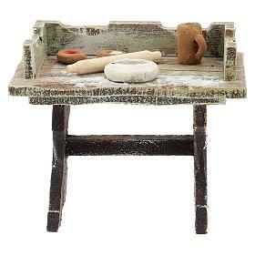 Pizza-maker table for 12 cm Nativity scene s1