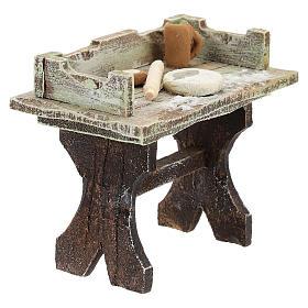Pizza-maker table for 12 cm Nativity scene s3
