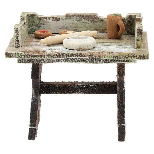 Pizza-maker table for 12 cm Nativity scene 1