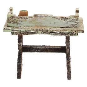 Banco pizzaiolo legno presepi 12 cm s4