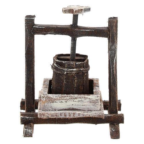 Winepress for 10 cm Nativity scene 1