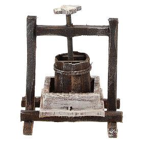 Pressoir raisin bois pour crèche 10 cm s3